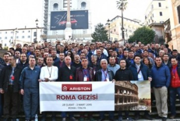 Ariston Thermo Türkiye bayilerini Roma'da ağırladı
